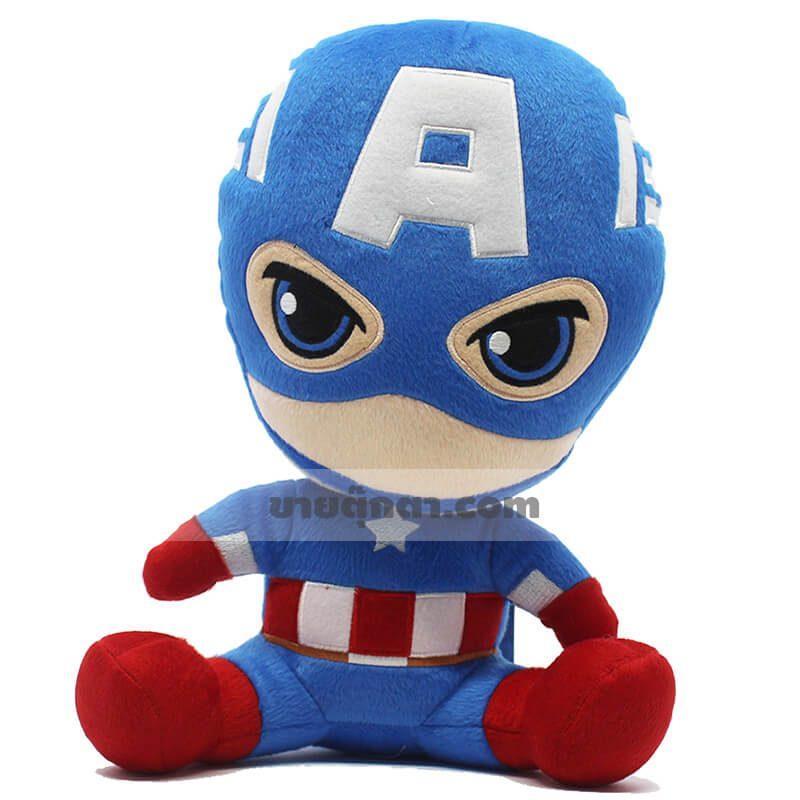 ตุ๊กตากัปตันอเมริกาคิวตี้จากเรื่องอเวนเจอร์ส Captain America Cutie Avenger ของค่าย มาร์เวล Marvel