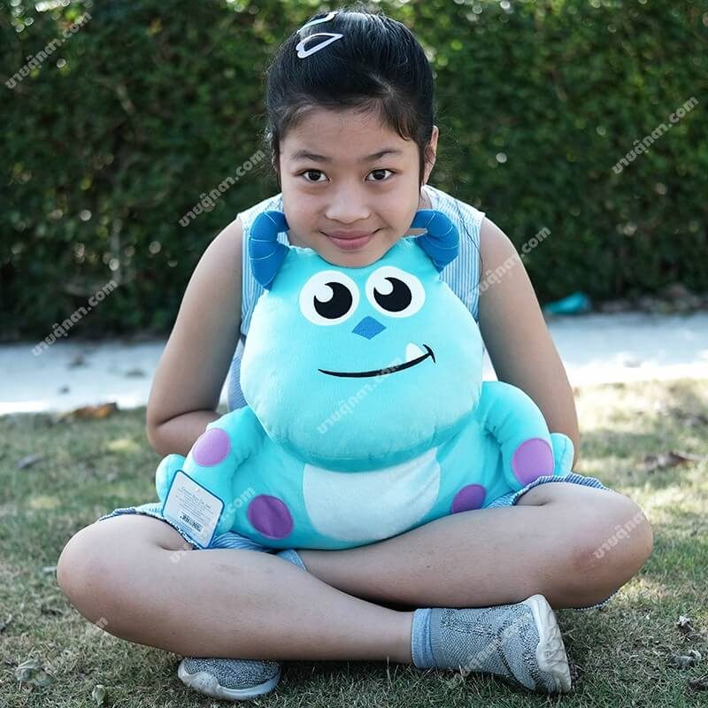 หมอนสอดมือ ซัลลี่ / Sulley Kawaii Monsters จากเรื่องมหาลัยมอนส์เตอร์ University Monsters Inc ของค่าย ดิสนีย์ Disney
