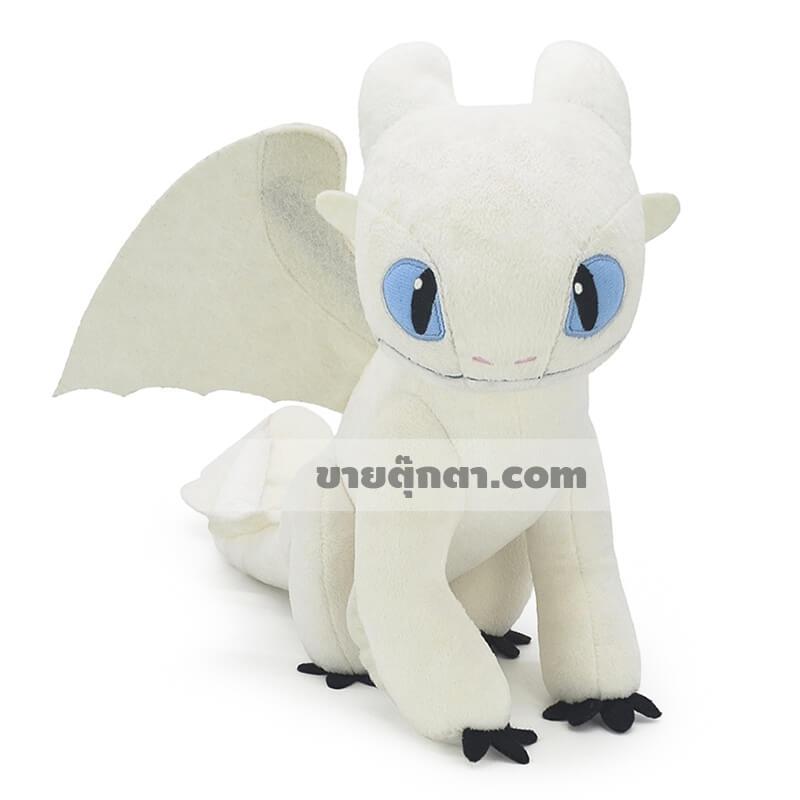 ตุ๊กตา เพลิงนวล / Light Fury จากเรื่อง อภินิหารไวกิ้งพิชิตมังกร How To Train Your Dragon ของค่าย ดรีมเวิกส์แอนิเมชัน Dreamworks