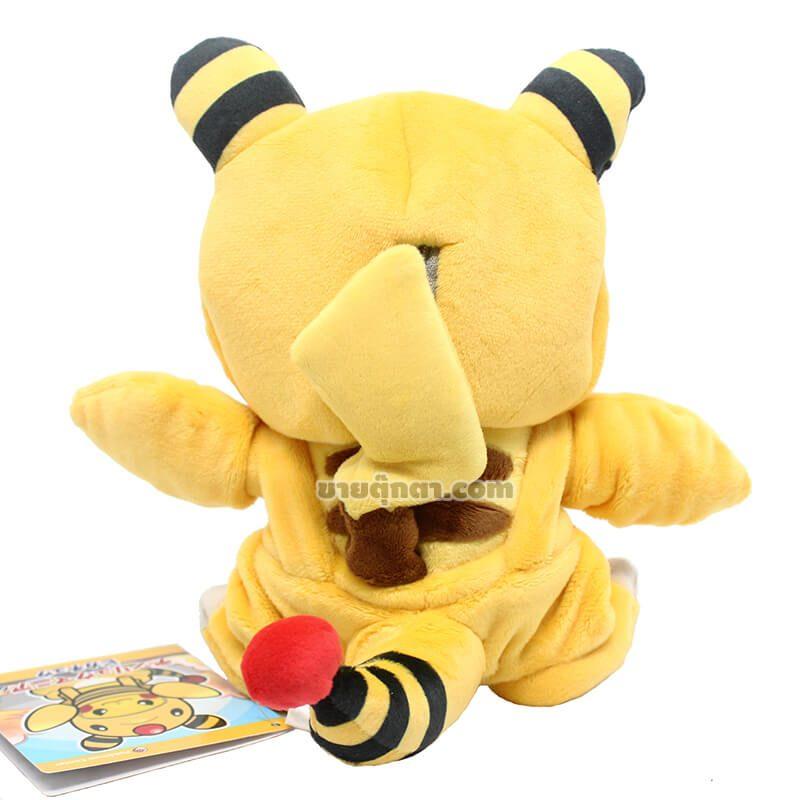 ตุ๊กตา ปิกาจู สวมแกะคอยาว จากเรื่องโปเกม่อน Pikachu in Ampharos Suit Pokemon