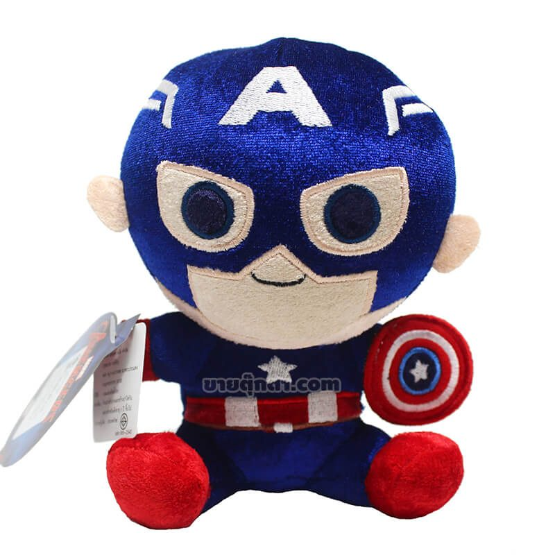ตุ๊กตา กัปตันอเมริกา / Captain America จากเรื่องอเวนเจอร์ส ของค่าย มาร์เวล Marvel