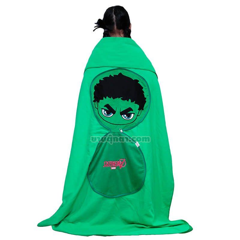 หมอนผ้าห่ม ฮัค / Hulk จากเรื่องอเวนเจอร์ส Avenger Endgame ของค่าย มาร์เวล Marvel