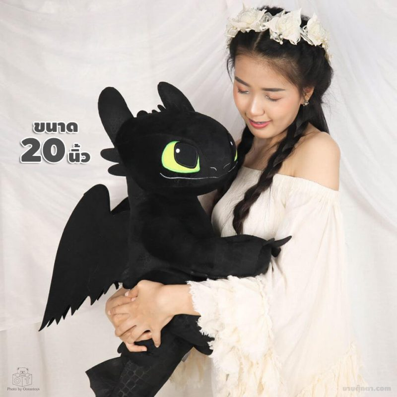ตุ๊กตา เขี้ยวกุด / Toothless จากเรื่อง อภินิหารไวกิ้งพิชิตมังกร How To Train Your Dragon ของค่าย ดรีมเวิกส์แอนิเมชัน Dreamworks