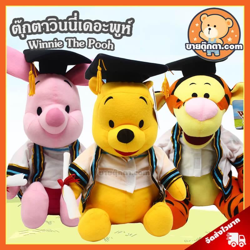 ตุ๊กตา หมีพูห์ รับปริญญา / Winnie the pooh จากเรื่องวินนี่เดอะพูห์ ของค่าย ดิสนีย์ Disney